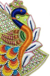 "Laddu Gopal Outfit Green White  Conch Peacock  1"" to 5"" Inch Sizes"