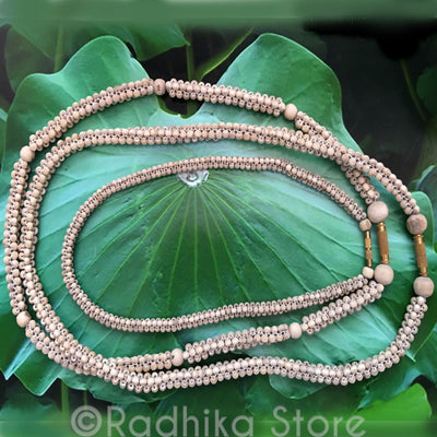 Woven Small Round Tulasi Necklace