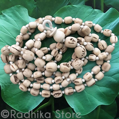 "Pure Tulsi Japa Beads - Hang 38"" inches Long"