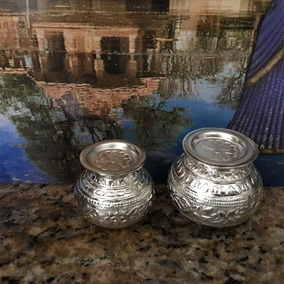 Fancy Silver Deity Pots