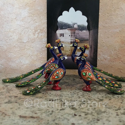 Vrindavan Peacocks - Ceramic -  Choose From Three sizes