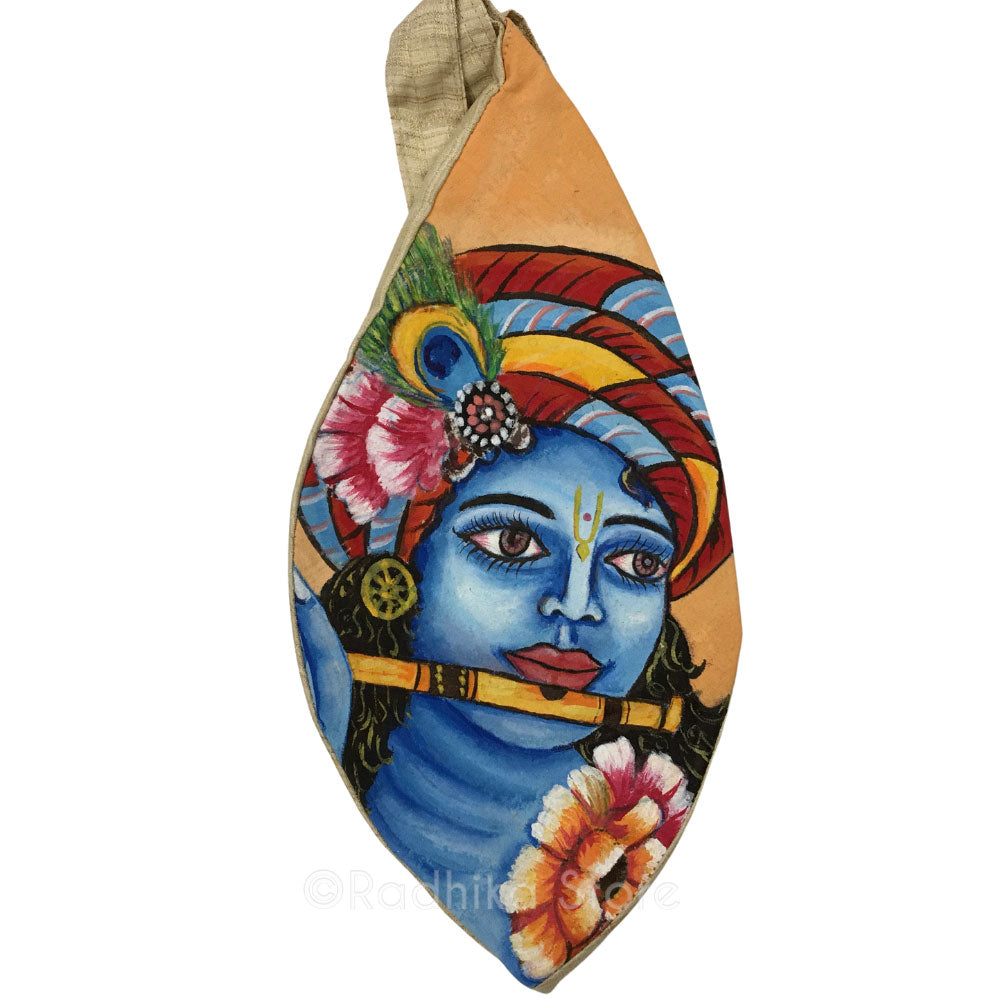 Bansuri Krishna - Hand Painted - Bead Bag
