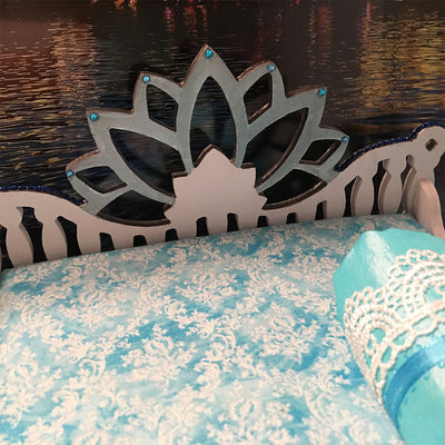 "Lotus in Radha Kunda Bed - 13"" Inch"