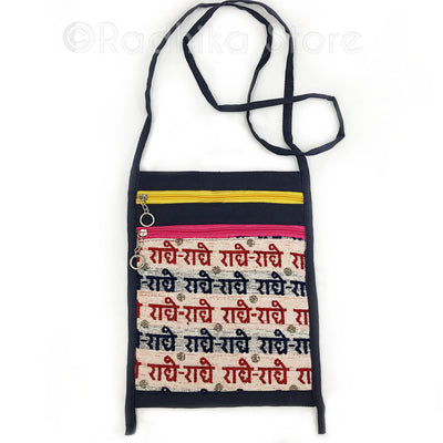 Radhey Radhey Sanskrit - Red and Black Hand Bag