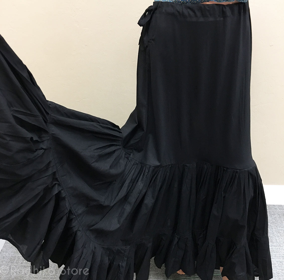 Black Cotton Twirling Petticoat/ Slip - S, M, L (8 Meters Fabric)