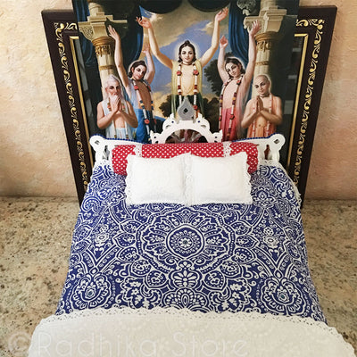 "Jagannath Puri - White Lotus Chakra Bed - 13"" Inch"