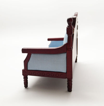 Blue Jeweled Mahogany Throne
