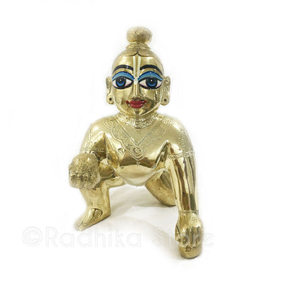 Exclusive - Laddu Gopal  Brass - Choose Size -  2,3,4,5 inch