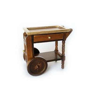 Oak Serving Cart