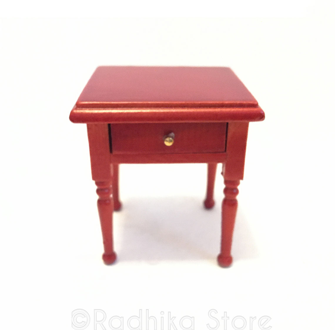 Chawki (Offering Table) Or Side Table With Drawer- Cherry Finish