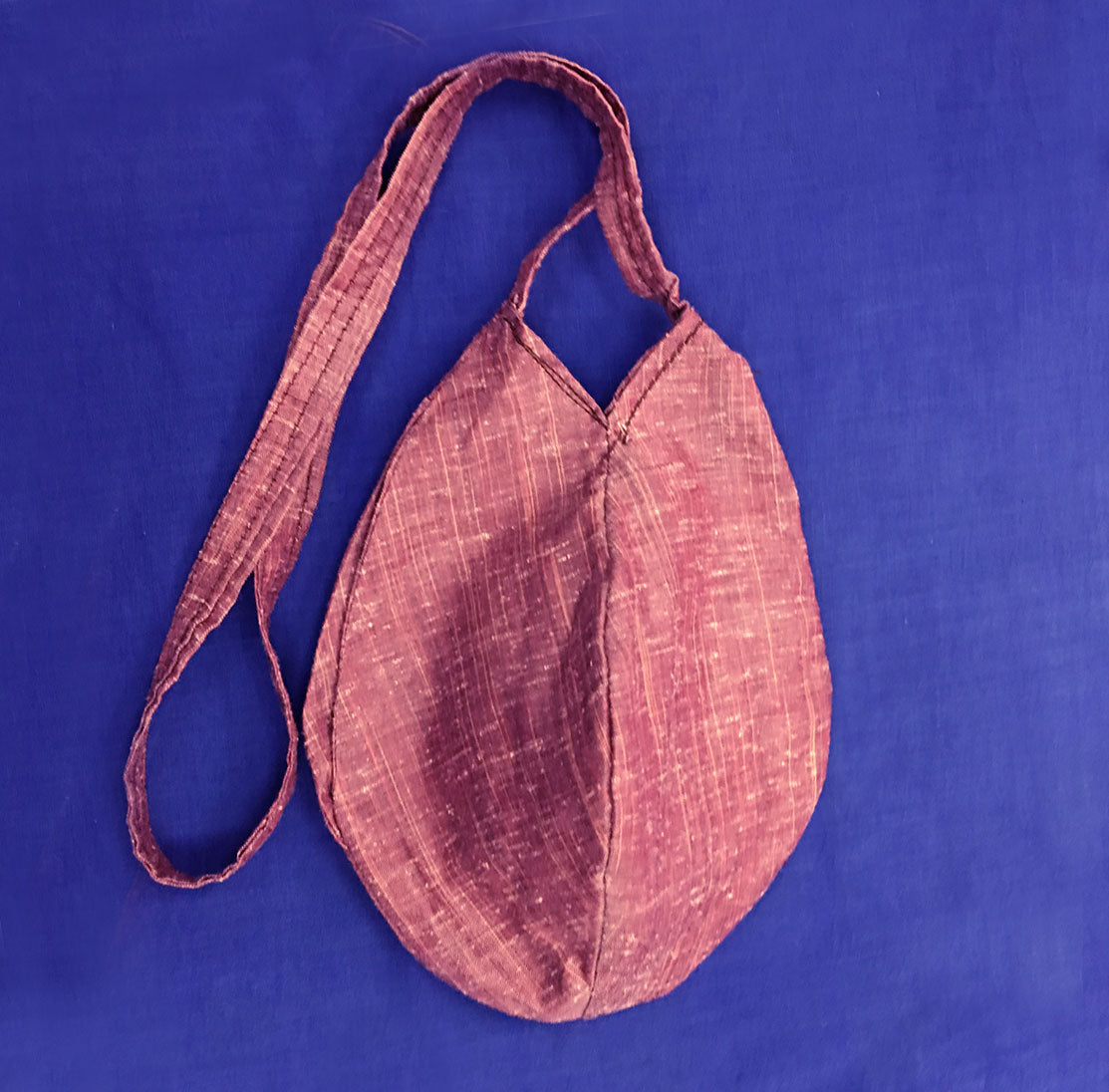 Childrens Small Purple Raw Silk- Bead Bag