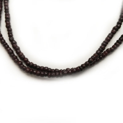"Dark Rosewood Neck Beads - 21""Inch"