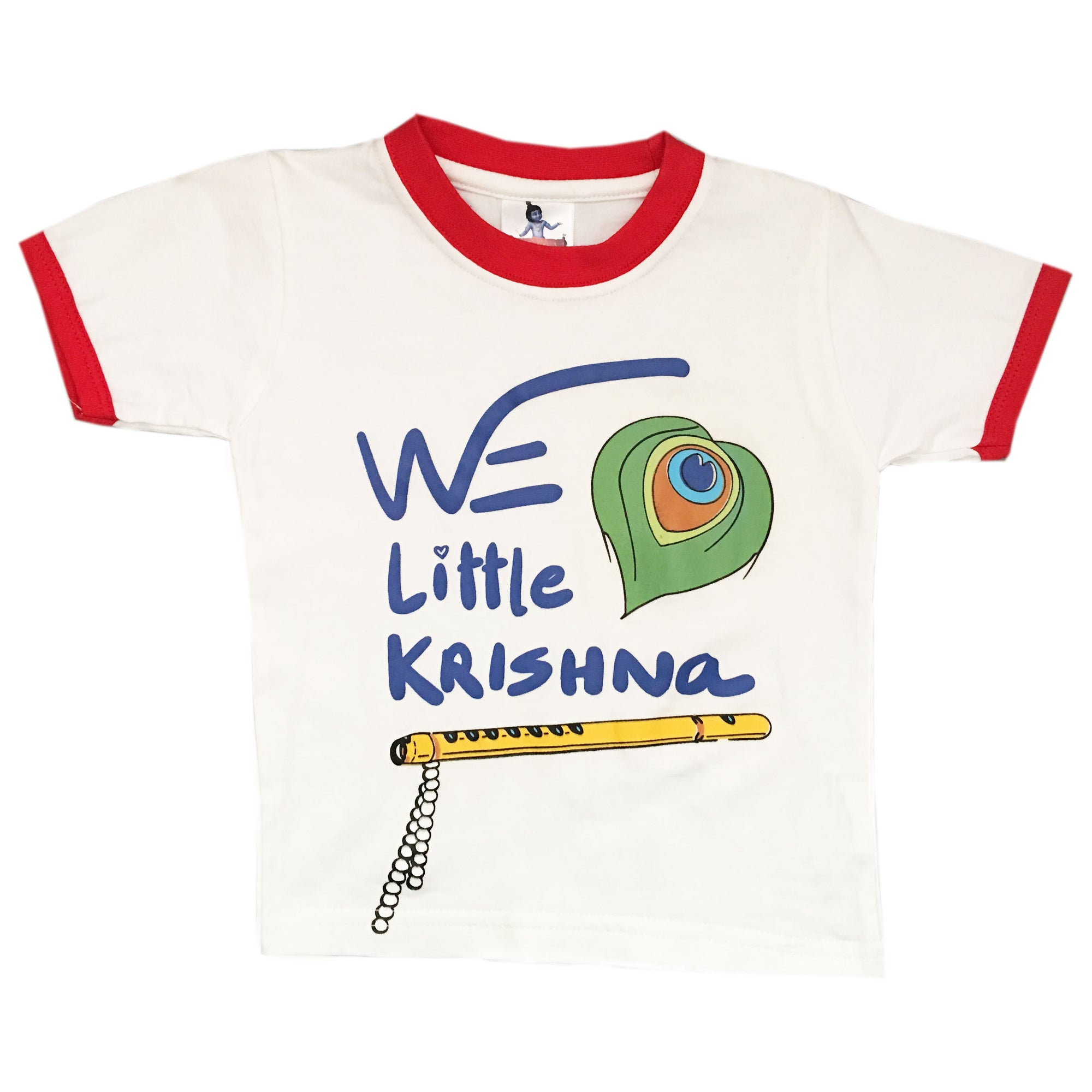 We Little Krishna Flute - T-shirt- Red- Size 06 to 24 Months