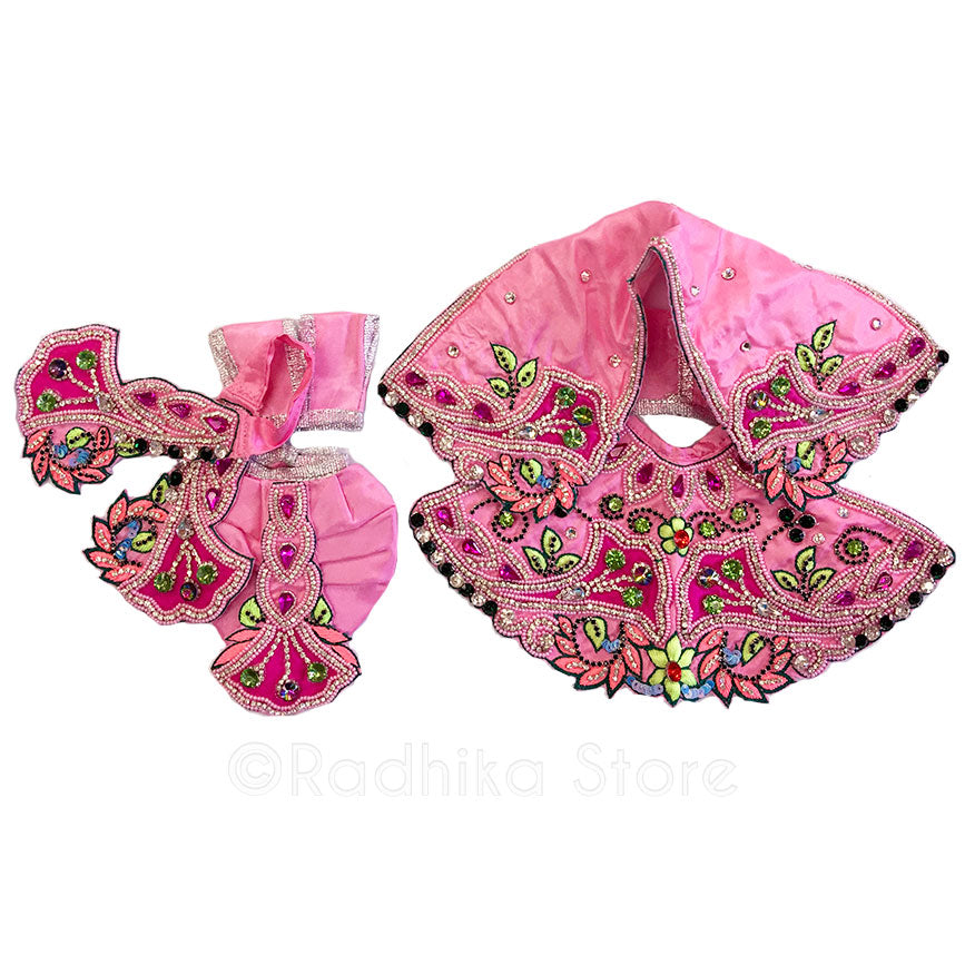 Festival - Pinks and Lime- Radha Krishna Deity Outfit