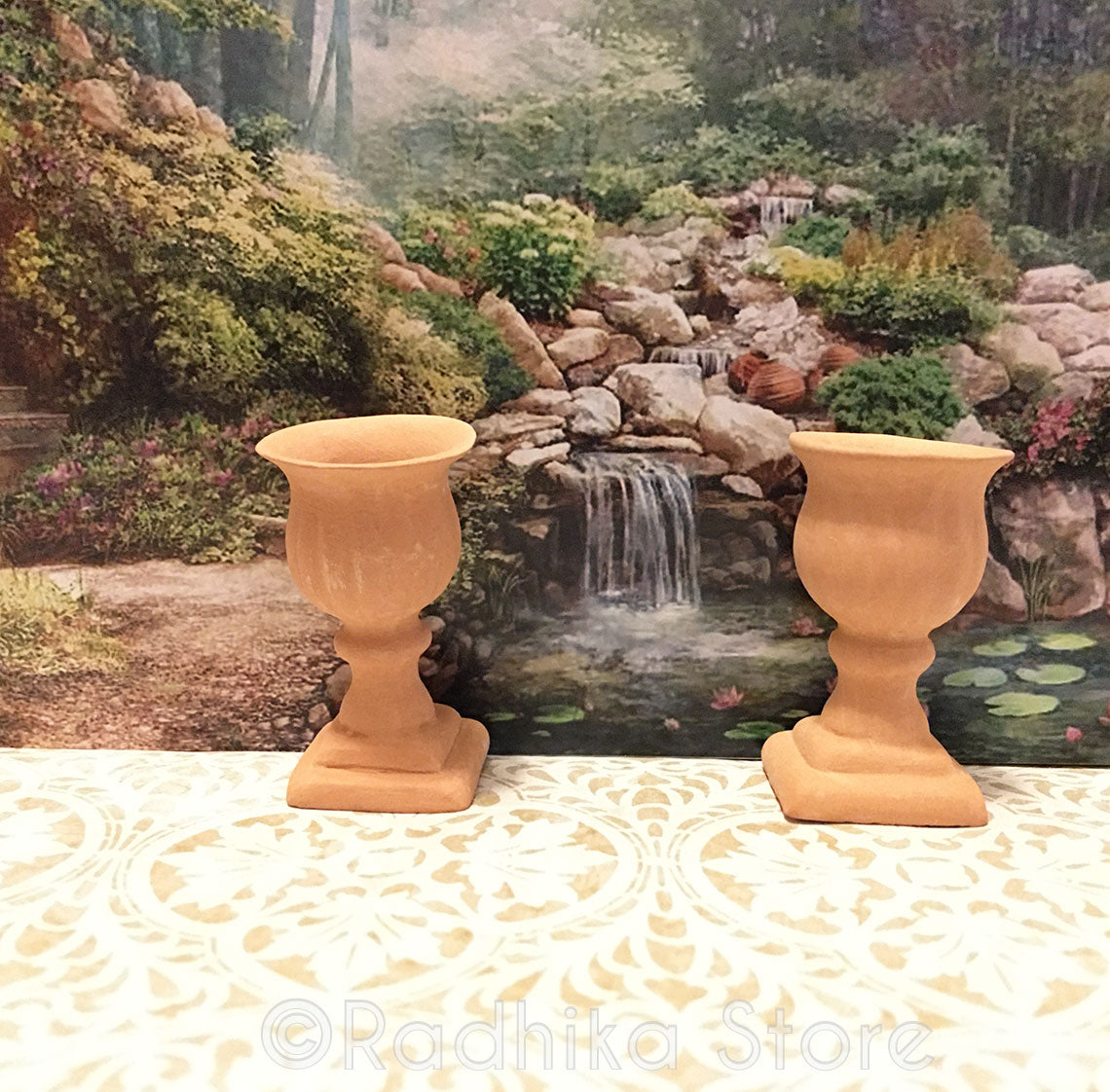 Miniature Decorative Clay Pots- Set of 2