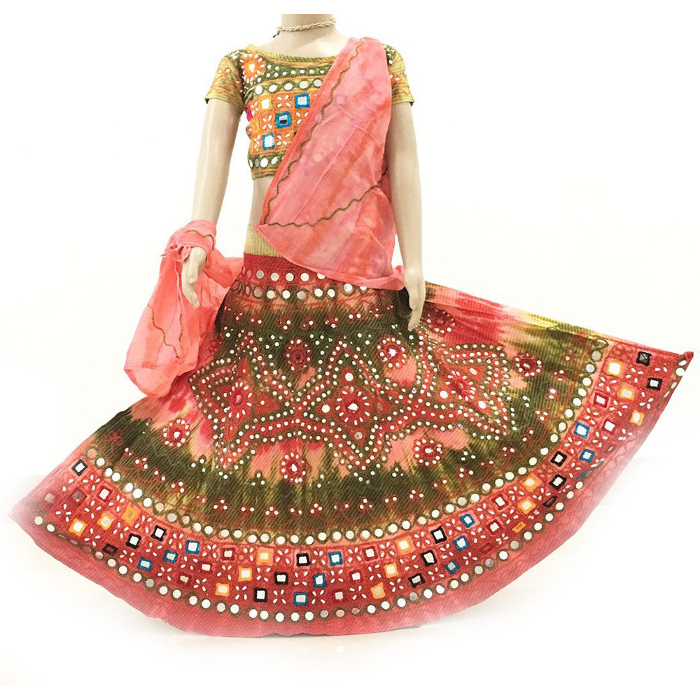 a2b6142225 Gopi Skirt Outfit - Coral And Green Sizes - 3-5-6-8-9-10-12 ...