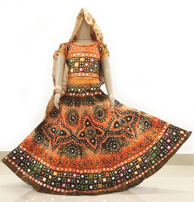 Gopi Skirt Outfit - Vrindavan Dust/Orange - Sizes - 3-5-6-8-9-10-12