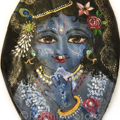 My Gopala Makhanchore - Hand Painted With Jewels -  Bead Bag