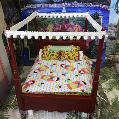Gopi Jana-Vallabha- Mahogany Tall Poster Bed-