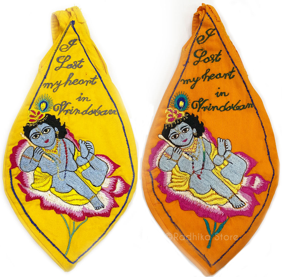 I lost My Heart In Vrindavan - Baby Krishna - Bead Bags
