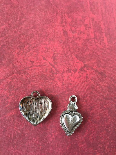 Vrindavan Hearts - Flowers Or Lace - Pendant/Charm