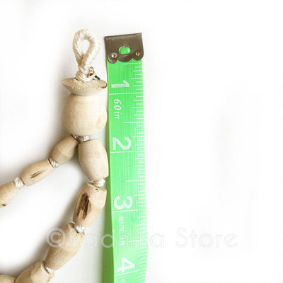 "Barrel Shaped Pure Tulsi  Japa Beads - Hang 36"" inches Long"
