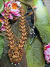 Divine Goddess Peacock Necklace- Pink