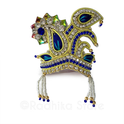 Peacock  Party - Blue - Rhinestone Crown