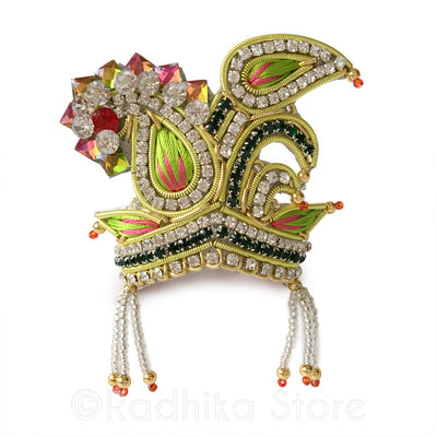 Green Peacock  Party - Rhinestone Crown