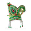 Vrindavan Peacock - Green and Red - Rhinestone Crown