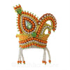 Orange And Green Vrindavan Swan - Rhinestone Crown