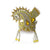 Yellow Gold - Crystal - Chandrika Fan Crown
