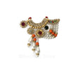 Solid Orange - Multi Color Crystal, Pearl and Rhinestone Belt -  Choose Color