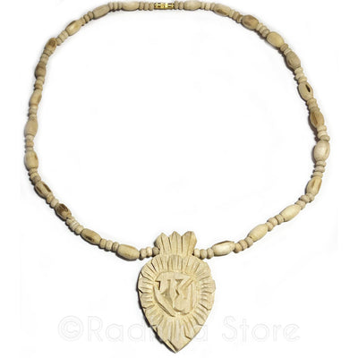 Medium - Radha Sanskrit Lotus Pendant - Tulsi Necklace