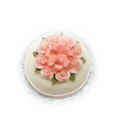 Butter Cream- Pink Rose Top Cake