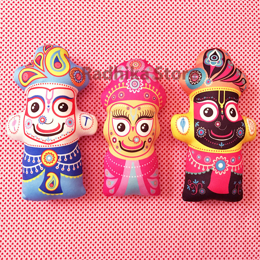 Lord Jagannath-Baladeva-Lady Subadra - Transcendental Dolls