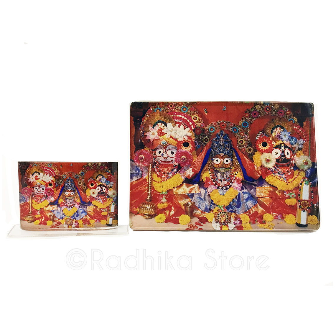 Lord Jagannath Red and Yellow  Acrylic Picture- Choose Size