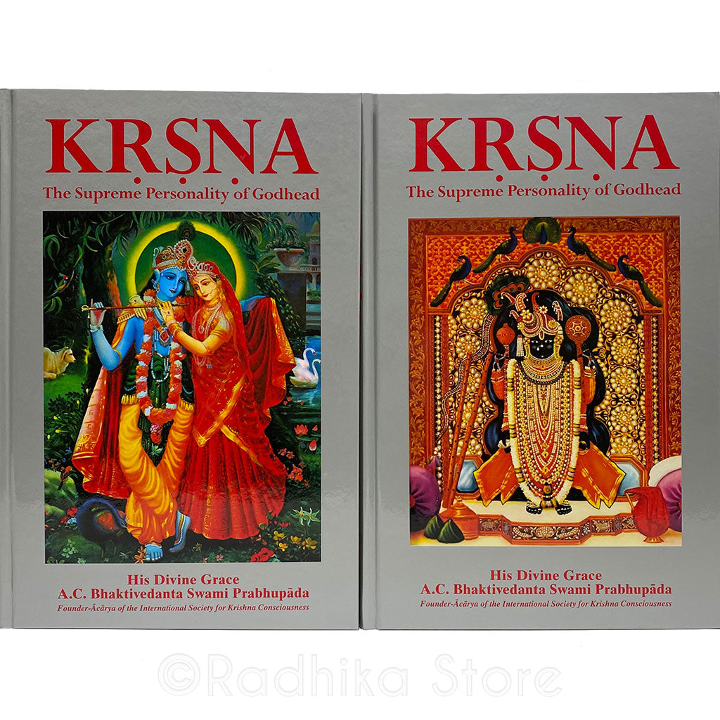 Krsna, The Supreme Personality Of Godhead -Large Two Volume- Hard Cover
