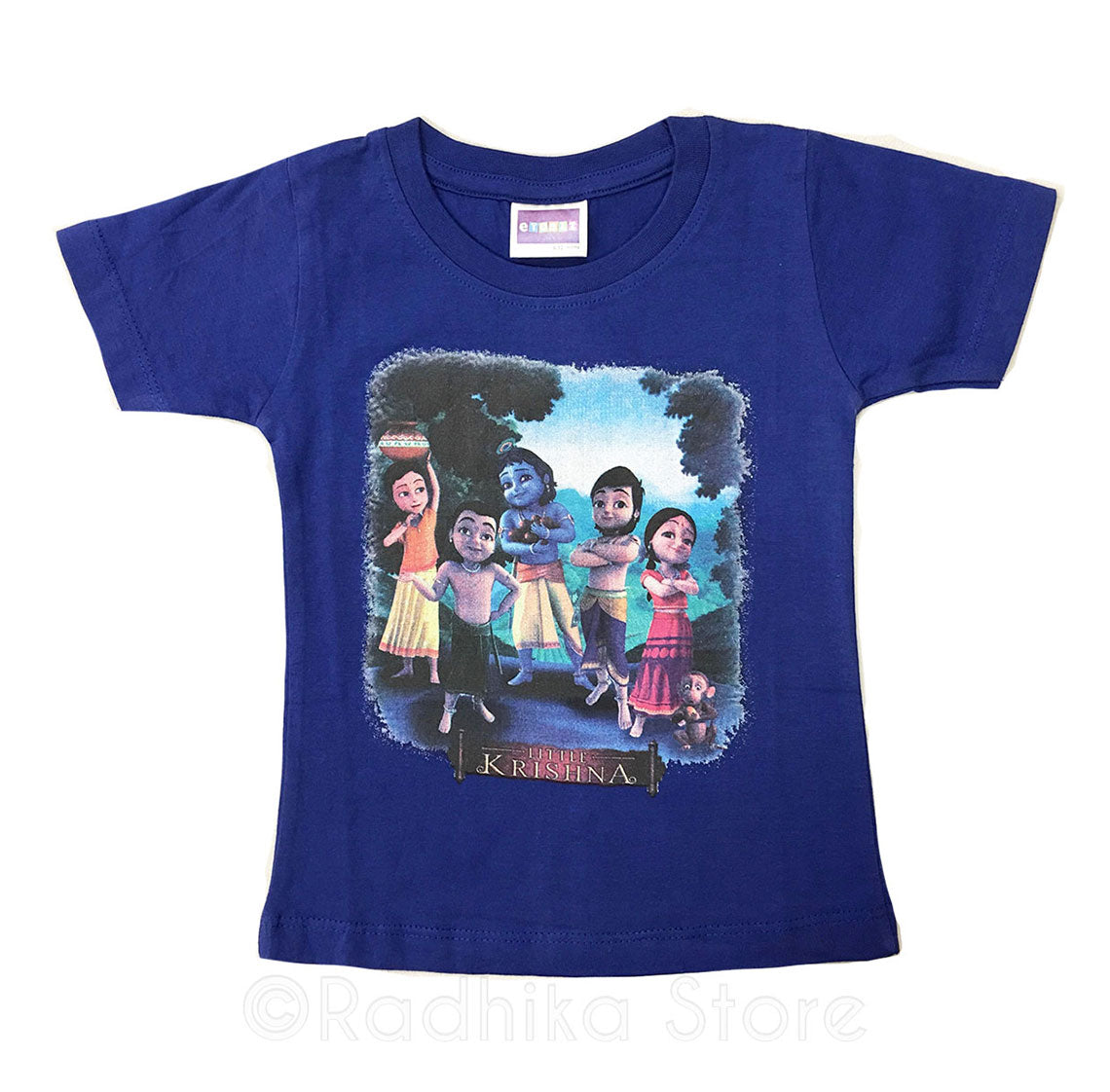 Krishna and Friends - Blue- Short Sleeve- Size- 6 to 12 Months