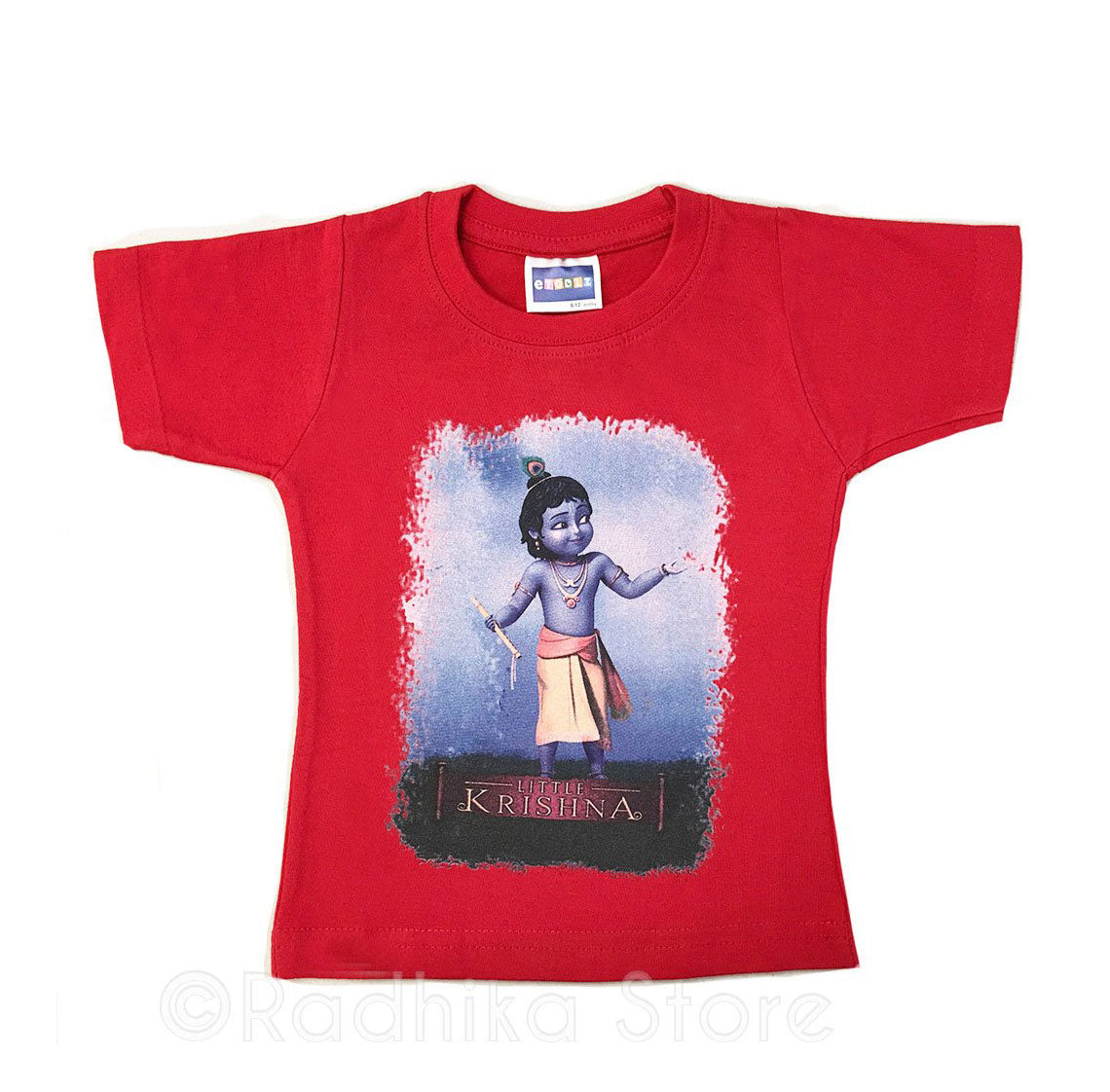 My Friend Little Krishna - Red- Short Sleeve- Size 6 to 12 Months
