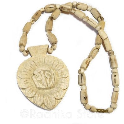 Extra Large Radha Lotus Pendant-Tulsi Necklace