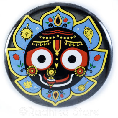 Lord Jagannath Button - Blue