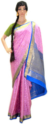Lovely Pink Star Flower- Pure Silk Saree