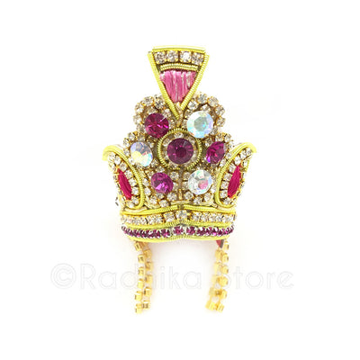 Majestic Mauve - Crystal Rhinestone Crown
