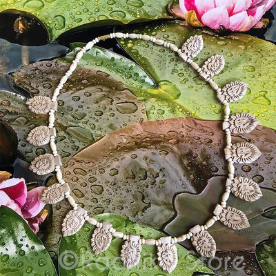 16 Lotus Maha Mantra Pendant-Tulsi Necklace - Best Quality