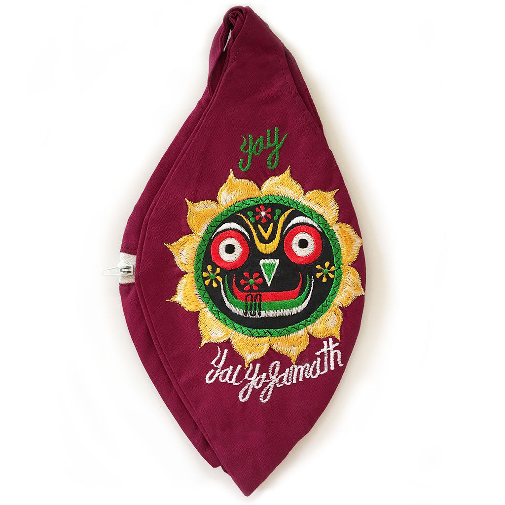 Jai Jagannath - Maroon - Bead Bag