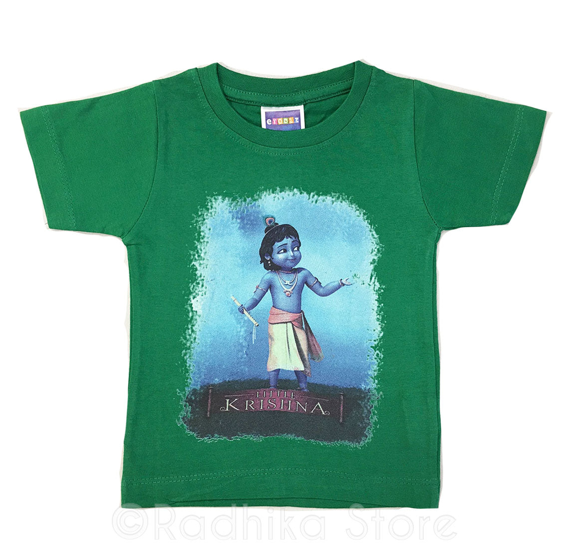 My Friend Little Krishna - Green-Short Sleeve- Size 6 to 12 Months
