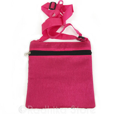 Radhey Radhey Sanskrit - Pink and Black Hand Bag