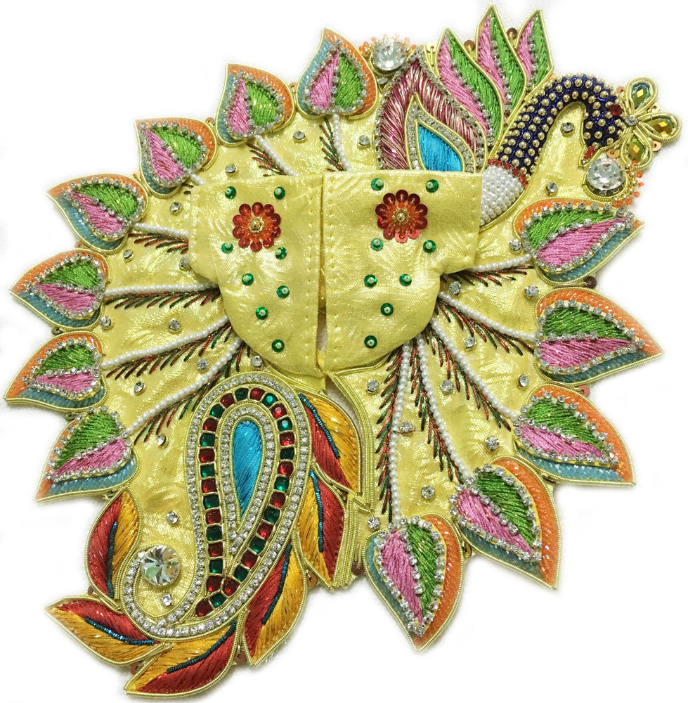 "Laddu Gopal Outfit Pastel Paisley Peacock  1"" To 5"" Inch Sizes"