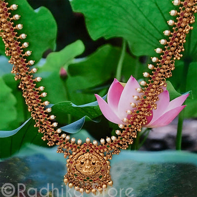 Lotus Goddess Necklace - With Tiny Paisleys
